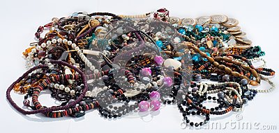 Necklaces and beads