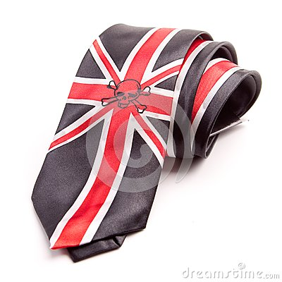 Necktie with British flag
