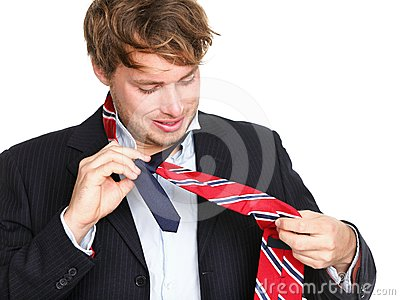 Necktie - man can not tie his tie