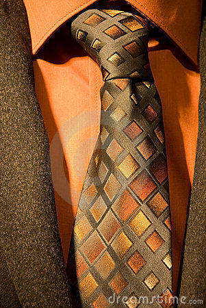 Necktie with shirt and jacket