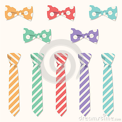 Neckties and Bowties Vector Set