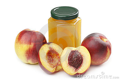 Nectarine and jam