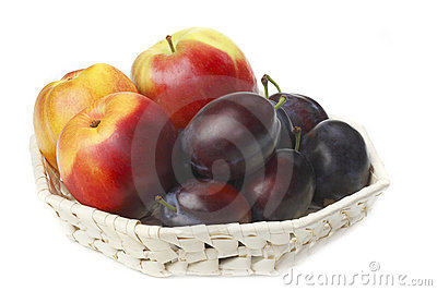 Nectarine,plums and apple