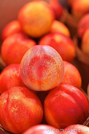 Free Nectarines For Sale On A Market Stock Photography - 4365112