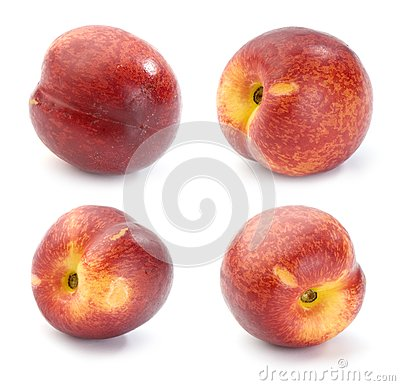 Nectarines, set of images