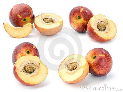 Nectarines, set of images