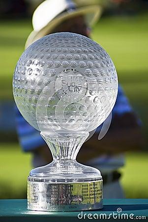 挑战高尔夫球nedbank ngc2010战利品 编辑类库存照片