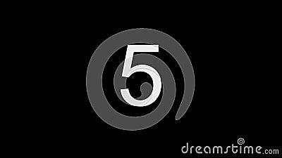 Nedräkning på en svart bakgrund med en röd blinkaprick stock video
