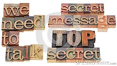 We need to talk - top secret