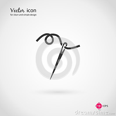 Free Needle And Thread Icon Stock Photography - 49121222
