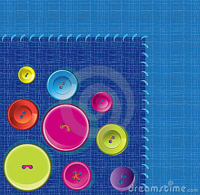 Needle, button, thread background
