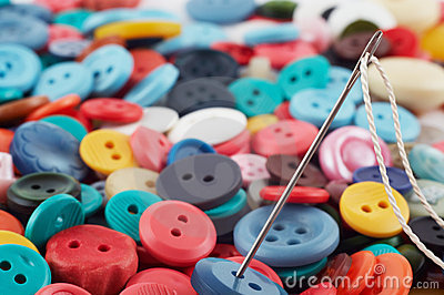 Needle and buttons