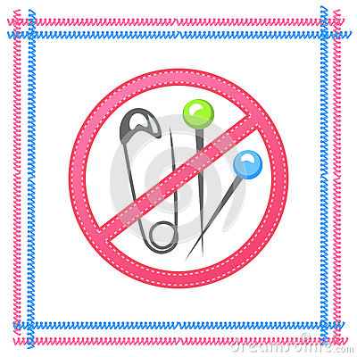 Free Needles, Pins, No Sharp Objects, The Warning Sign. Stock Images - 66828084