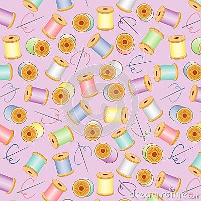 Needles&Threads Seamless, Pastel, Lavender BG