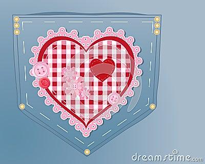 Needlework heart