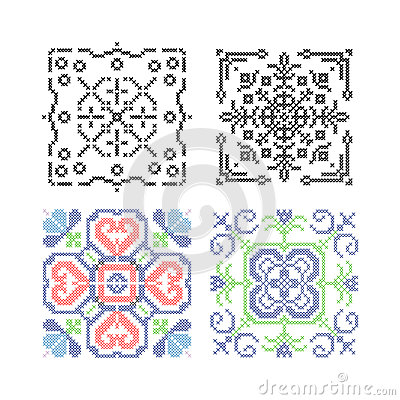 Needlework vector