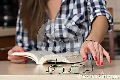 She needs glasses for reading