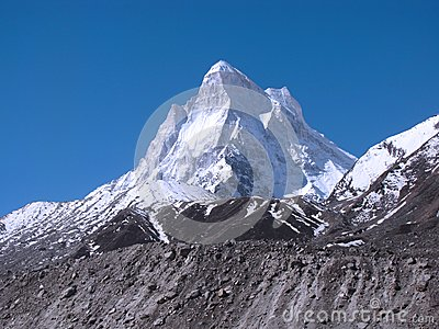Neelkanth peak in Great Himalayas