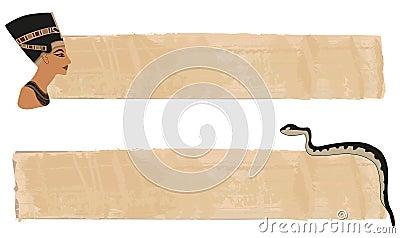 Nefertiti Papyrus Banner