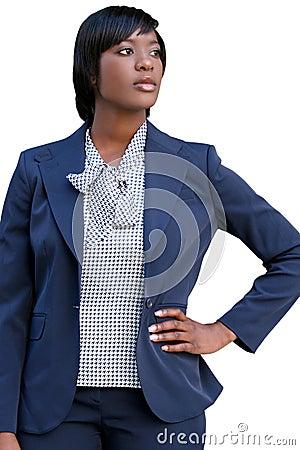 Negócio, mulher do African-American de Corproate