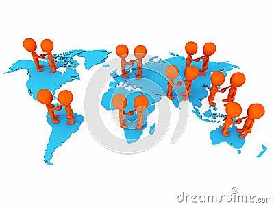 Negócios de negócio mundiais