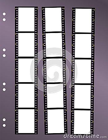 Negative film contact sheet