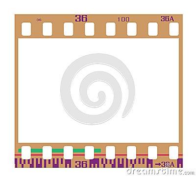 Negative film frame