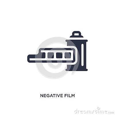 negative film icon on white background. Simple element illustration from cinema concept Vector Illustration