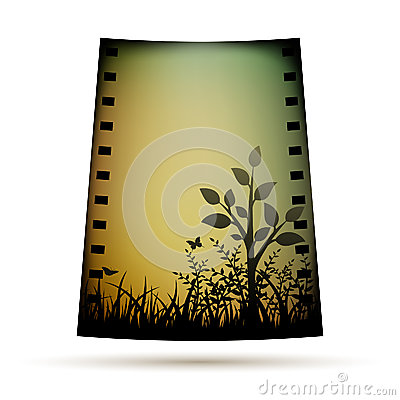 Negative film with landscare