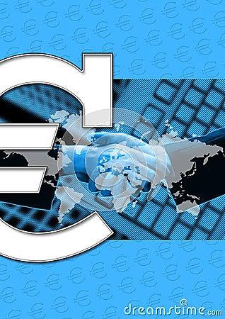 Negócio e euro- sinal