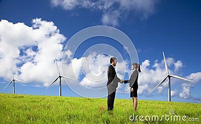 Negócio e executivos de Eco