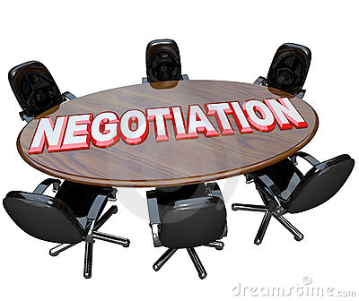 Negotiation Conference Room Table Discussion