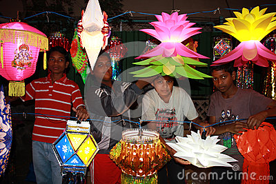Negozio di Diwali dei bambini Immagine Stock Editoriale