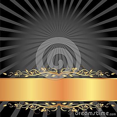 Negro y fondo del oro