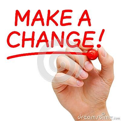 Nehmen Sie eine Änderung vor