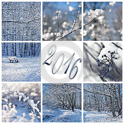 2016 neige et carte de voeux de paysages d 39 hiver photo stock image 62388064. Black Bedroom Furniture Sets. Home Design Ideas