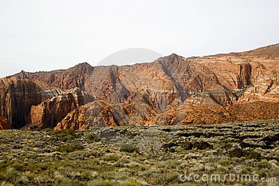 Neige Utah de gorge