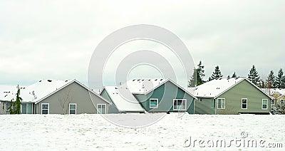 Neighborhood houses roofs