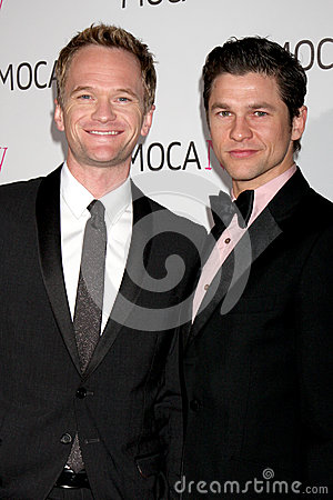 Neil Patrick Harris,David Burtka Editorial Stock Photo
