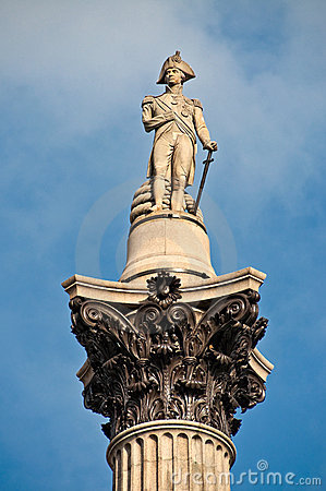 Free Nelson Column On Trafalgar Square Stock Image - 14119401