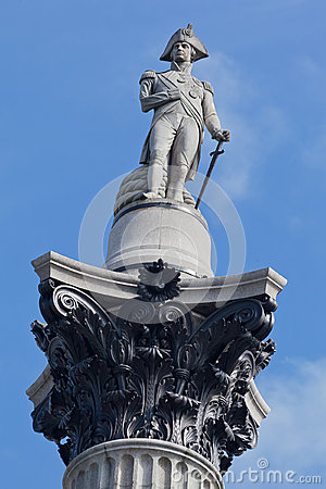 Nelson Column Trafalgar Square London England