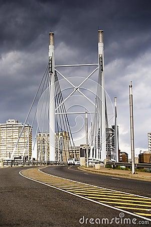 Free Nelson Mandela Bridge Facing Into Braamfontein Royalty Free Stock Image - 16973776