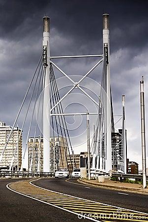 Free Nelson Mandela Bridge Facing Into Braamfontein Stock Photo - 16974370