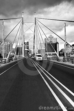 Nelson Mandela Bridge facing into JHB CBD