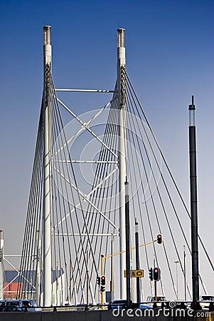 Free Nelson Mandela Bridge - Suspension Bridge Royalty Free Stock Photos - 10462358