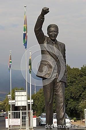 Nelson Mandela celebrating freedom Editorial Stock Photo