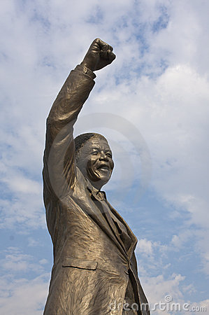 Nelson Mandela celebrating freedom Editorial Photo
