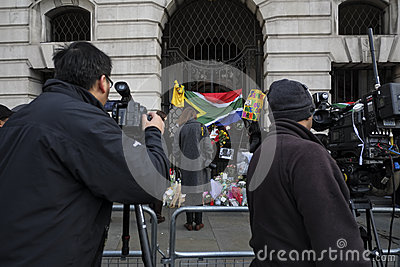 Nelson Mandela commemoration in London Editorial Stock Photo