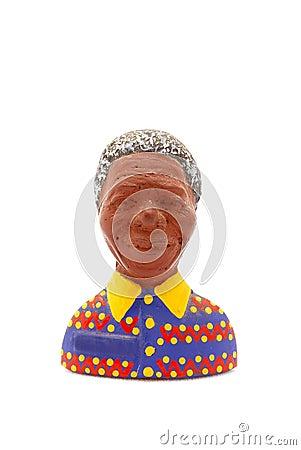 Nelson Mandela fridge magnet Editorial Stock Image