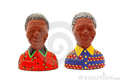 Nelson Mandela fridge magnets Editorial Photography